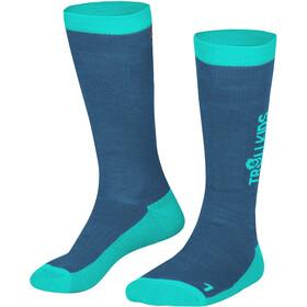 TROLLKIDS Ski Socks 2 Pairs Kids, blauw/turquoise